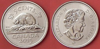 Specimen 2015 Canada 5 Cents From Mint's Set