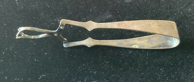 Vintage Antique Silver Plate EPNS L.W. Ltd England Hinged Sugar Claw Tongs Lever