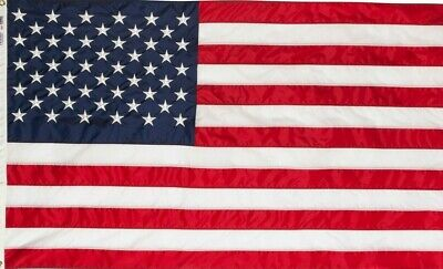 48 3x5 ft American Flag Sewn Stripes Embroidered Stars Brass Grommets USA US U.S