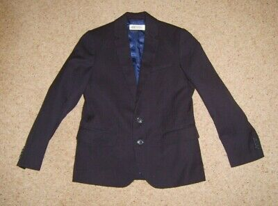 Boys Navy Blue Smart Suit Jacket H&M Age 8-9 Yrs Height 134 cm Used