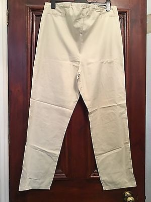MOTHERCARE Stone Chino Style Maternity Trousers Size 18