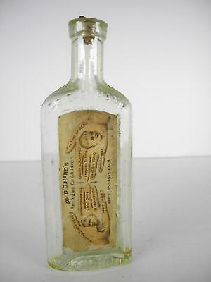 Dr. D. B. Hand's Remedies for Children Quack Medicine bottle with Label & Cork