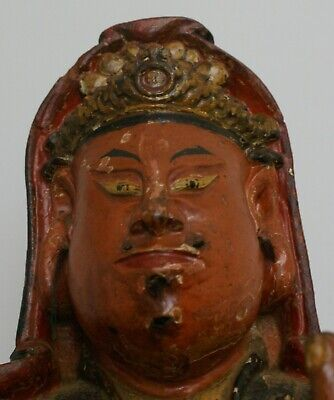 Ancient Museum Quality Large Buddha Statue 16th/17th Century Hand Painted RARE !