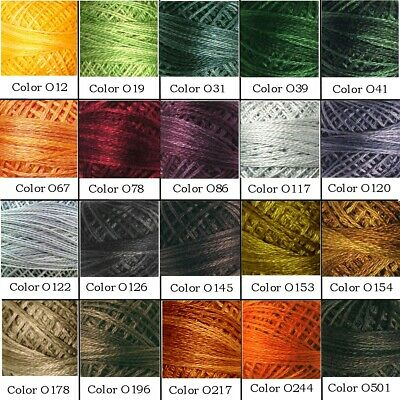 Valdani 3-Ply stranded floss-Variegated Colors O12-O5430, P1-P12, V1-V108, NEW!