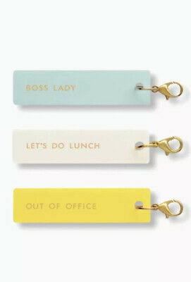 Kate Spade New York Planner Accessories Charm Set Of 3 BOSS LADY New in Package