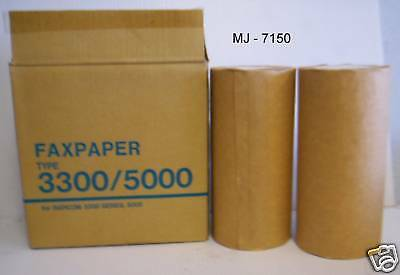Box of 2 Rolls of Fax Paper - Type 3300 / 5000 (NOS)