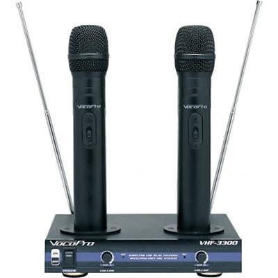 VOCOPRO VHF3300-5 2 Channel VHF Rechargeable Wireless Microphone System