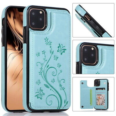 Flower PU Leather Flip Card Slot Wallet Case Cover For iPhone 11 Pro Max XS XR 8