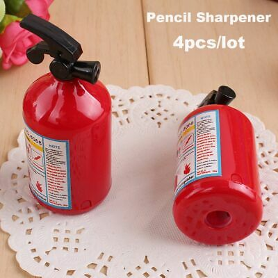Fashion Gifts Cutting Tools Plastic Fire Extinguisher Shape Pencil Sharpener