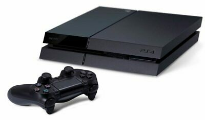 Sony PlayStation 4 PS4 500GB Jet Black Console and Cables Only
