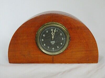 Rare Smiths Mantle Classic Car Clock In Domed Wooden Case Ma Black Face Working