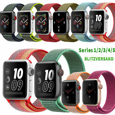 Apple Watch Nylongewebte Band Nylon Sport Loop Armband Serie 5 4 3 2 1 38-42mm