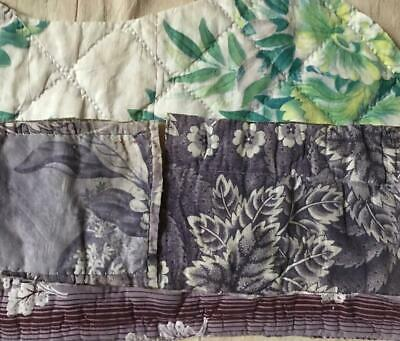 5 BEAUTIFUL SMALL PIECES 19th CENTURY FRENCH QUILTED COTTONS PROJECTS REF 314