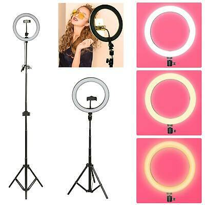 "10"" LED Ring Light Dimmable Lighting Phone Light For Selfie Makeup Youtube Live"