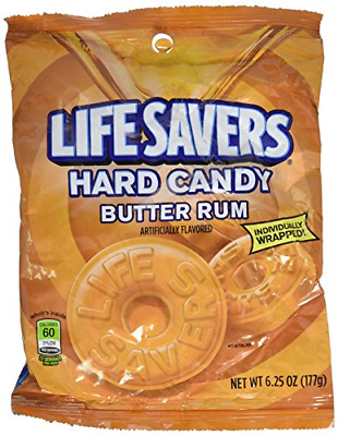 Life Savers Butter Rum Hard Candy 6.25oz Pack of 6