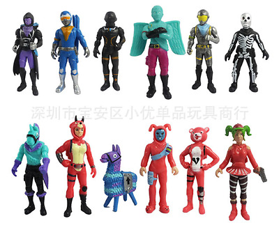 Collection 12pc PVC Action Figure Fortnight Fortnite Pack Game  Toy Doll Playset
