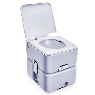 5 Gallon 20L Portable Toilet Flush Travel Camping Outdoor/Indoor Potty Commode S