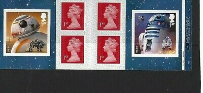 """GREAT BRITAIN: """"STAR WARS"""" BOOKLET with PLATE NUMBERS MNH"""