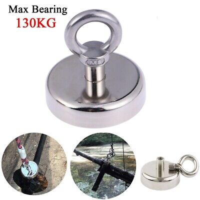 130KG Fishing Salvage Recovery Magnet Neodymium Hook Treasure Hunting Hook