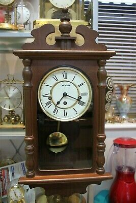 Small Wm/Widdop {Hermle} Westminster Chime Wall Clock