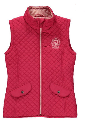 REQUISITE Girls Quilted Gilet Pink Sleeveless Size UK 10 *Ref115