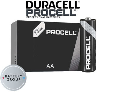 20x AA Duracell batteries Industrial Procell Alkaline MN1500 Expiry 2026