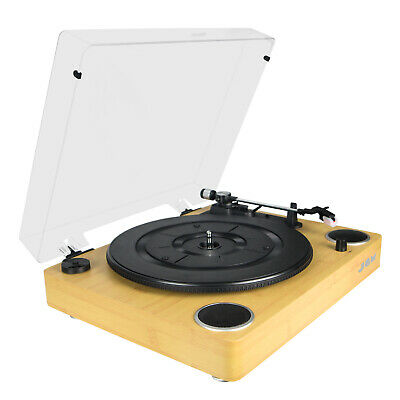 JAM Sound Turntable Player Vinyl Record Player + Built-In Dual Stereo Speakers