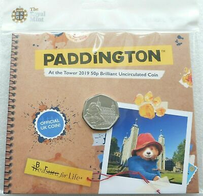 2019 Royal Mint Paddington Bear at the Tower of London 50p Fifty Pence Coin Pack