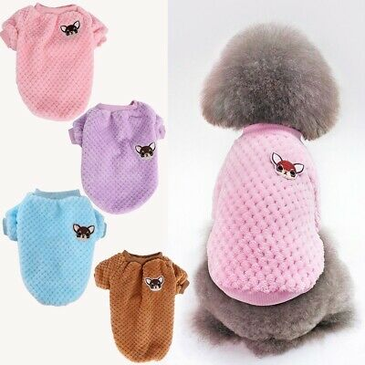 Pet Dog Knit Warm Sweater Embroidery Chihuahua Clothes Puppy Cat Jumper Winter
