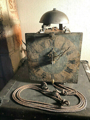 old brass iron ZAPPLER wall clock working Clockwork mechanism from XVIII.century