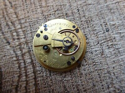 Gloucester Maker Good  Antique  Fusee  Pocket Watch Movement