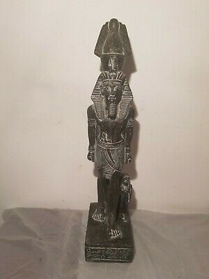 Rare Antique Ancient Egyptian Statue King Ramses & wife Nefertari1279–1213BC