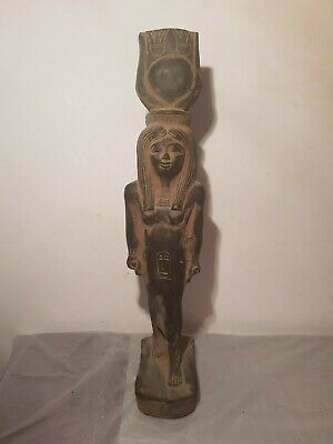 Rare Antique Ancient Egyptian Statue Goddess Isis Good Health Cure 1630-1560BC