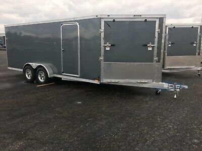 """2020  102"""" And 7' Wide  All Aluminum Enclosed Snowmobile/ Side By Side/ Atv"""