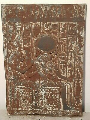 Rare Antique Ancient Egyptian Stela God Horus & Isis Protect & Health1830-1760BC