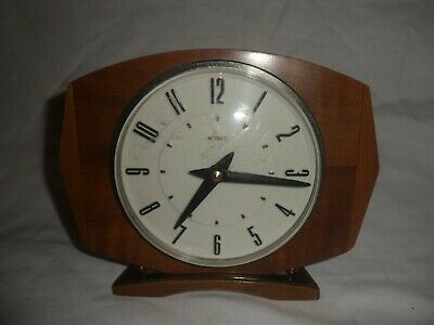 ART DECO WOODEN METAMEC MANTLE CLOCK, Working