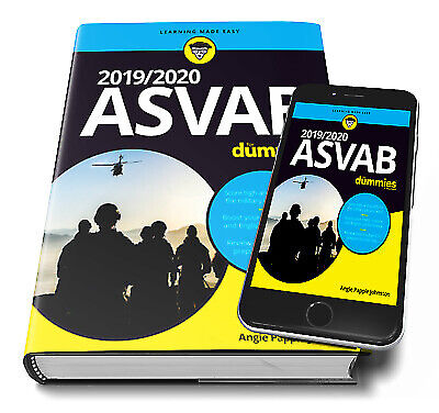 2019-2020 ASVAB For Dummies By Angie Papple Johnston P.D.F (Email Delivery)
