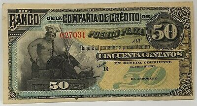 MEXICO 1881 .50 CENTAVOS UNSIGNED and UNDATED SPECIMEN BANKNOTE..RARE