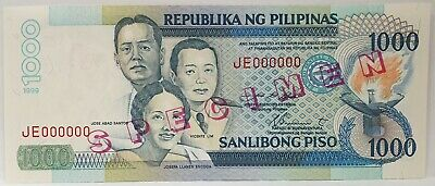 Philippines 1999 ... 1000 Piso ... Specimen Banknote Scarce And Uncirculated