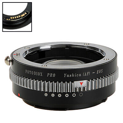 Pixco EMF Adjustable Aperture AF Confirm Canon FD Lens to Canon EOS EF Adapter No Glass