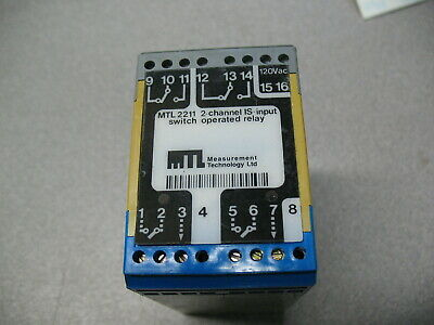 MTL MTL 2212  3 channel switch operated relay.