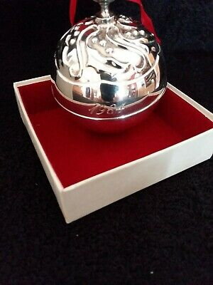 1984 Reed & Barton Silver Plated Annual Holly Bell Christmas Ornament