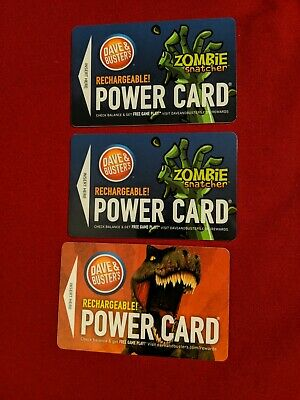 Dave and Buster's Power Cards Mixed (264 Game Chips and 412 Tickets)