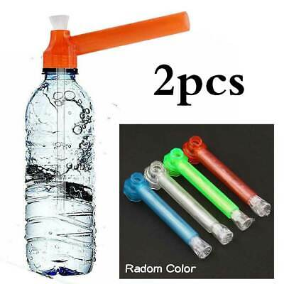 2x Portable Bottle Bong Tobacco Pipe Thread Converter Water Top Puff Hookah AU