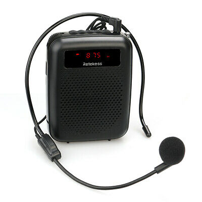 Portable FM Radio Speaker Voice Amplifier Recorder for School Teacher Meeting UK