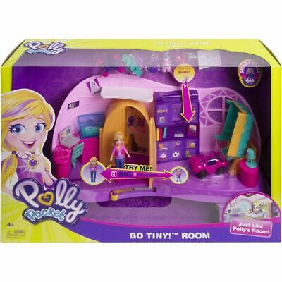 Polly Pocket Go Tiny! Room Playset Girls Dolls Toy Play Set Figures Toys Gift