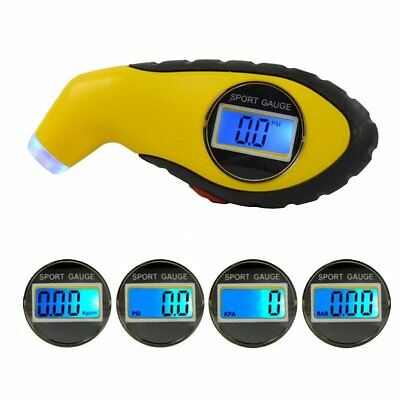 Tyre Pressure Gauge Tester Digital LCD Measurement Car Motorcycle Bike Van qS