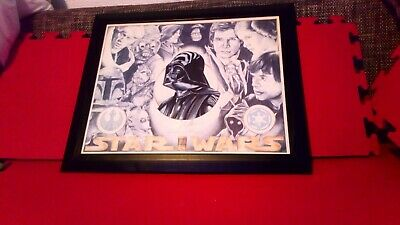 Rob larson  B&W 187 of 1000 Limited Edition Star Wars hand drawn print
