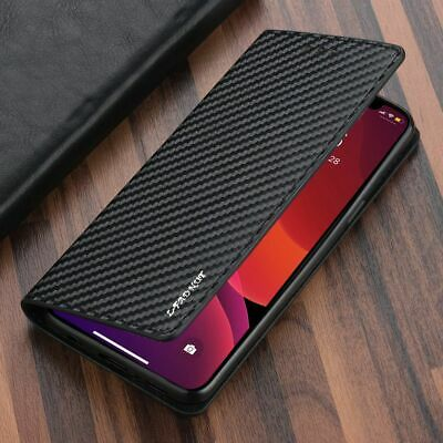 Magnetic Carbon Leather Flip Wallet Case Cover for iPhone 11 Pro XS Max XR 7 8 X