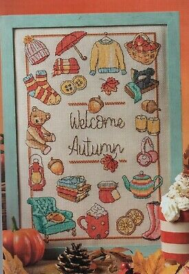 Cross stitch chart. Welcome Autumn sampler